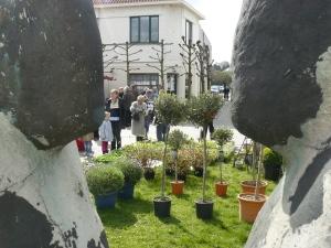 Sfeerbeeld tijdens bloemenmarkt 2009
