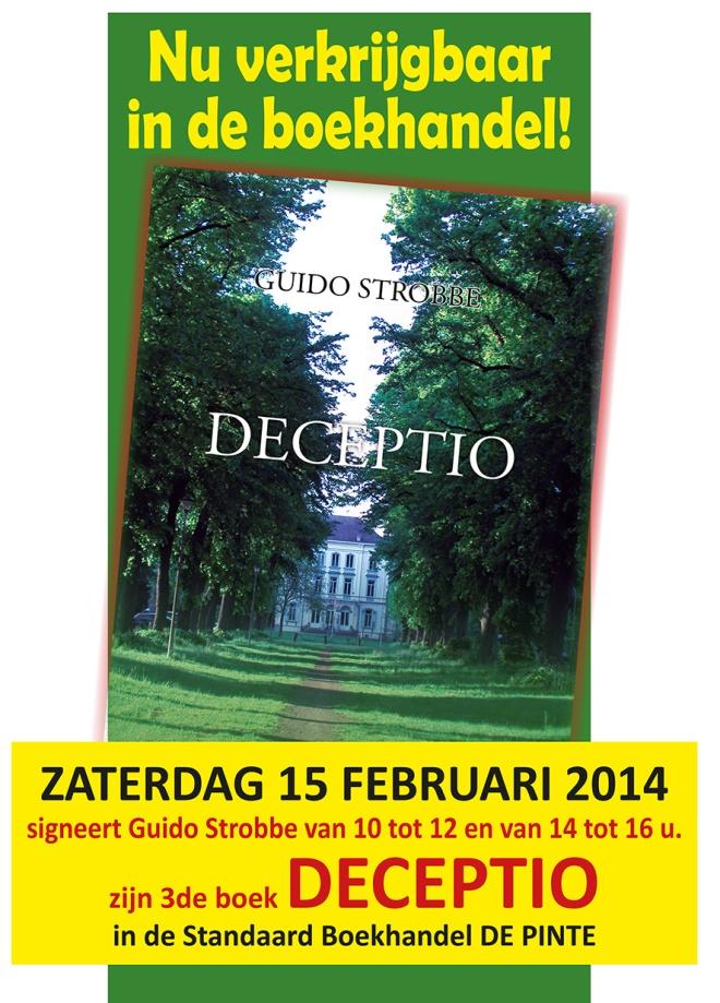 Affiche DECEPTIO signeren SB De Pinte