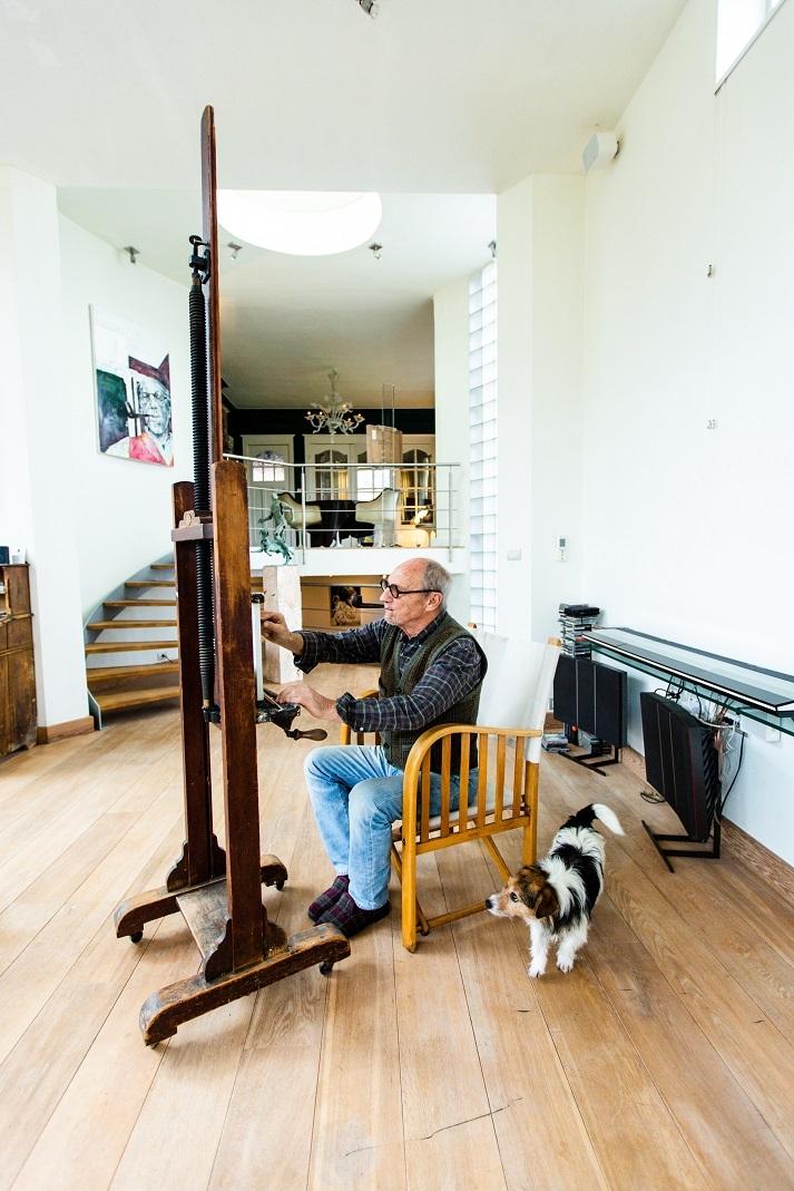 Voorbereidingen in het atelier Martin Wallaert Toerisme Leiestreek (002)